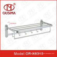 Wall Mounted Adjustable Stainless Steel Towel Rack Towel Bar with Hook Used in Bathroom
