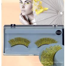 Fashion Creative Makeup Golden Sparkle Lace False Eyelashes Sparkle