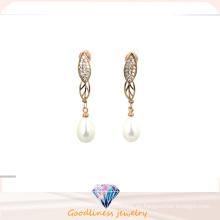 2016 Pendientes blancos genuinos de la perla de la nueva manera de la alta calidad para las mujeres E6353