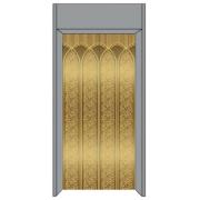 Ascensor / elevador decoración, acabado de espejo, pasajero levantar la decoración