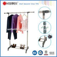 Rack de suspension à vêtements en acier à une seule tige extensible de bricolage (CJ-B1123)