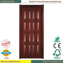 Porte en bois PVC bois portes solides en bois porte en PVC