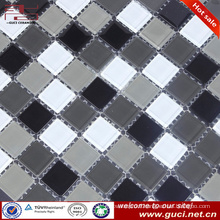 china wholesale mixed glass mosaic tile for bedroom wall design