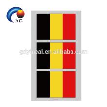 Etiqueta engomada temporal del tatuaje de la bandera nacional de la taza de fútbol del mundial