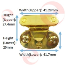 Zinc Alloy Metal Rounded Rectangle Case Lock