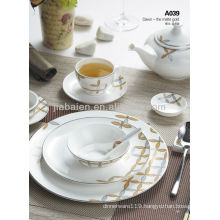 A028 New design wholesale bone china modern dinner set