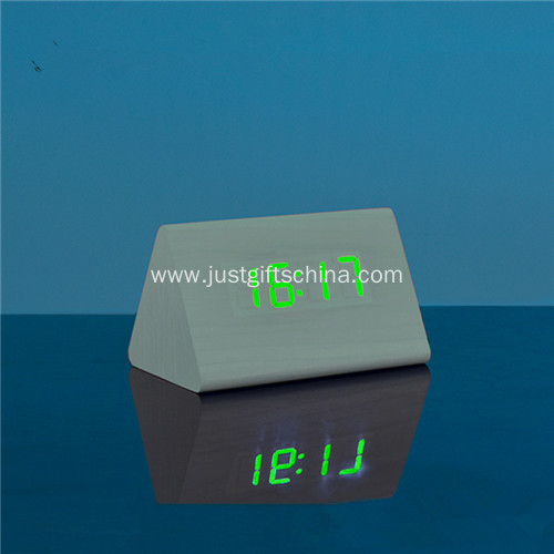 Promotional LED Wooden Table Clock