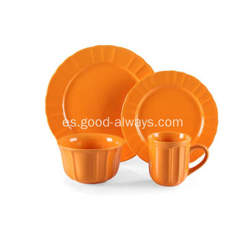 Pieza 16 gres cena Set Color naranja
