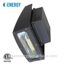 ETL listete im Freien geführtes Wandpaketlicht 20w 90 Grad-braune Lampenoberteil auf