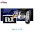 4-Wire 800TVL 7 Inch Video Door Phone Doorbell Intercom System HD Camera Unlock Rainproof Eye Vision Intercom