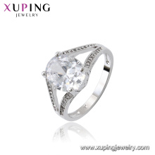 15727 xuping jóias china 5 grama de ouro anel de zircônia cúbica design