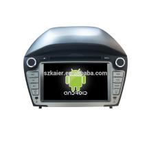 Quad core! Dvd do carro com link espelho / DVR / TPMS / OBD2 para 7 polegadas tela sensível ao toque quad core 4.4 Android sistema HYUNDAI IX35 2014
