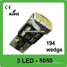 T10 auto lamps 3 SMD 5050 194 wedge