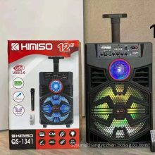 KIMISO QS-1341 High Quality 12 Inch Bt Portable Wireless Home Party Dj Speaker
