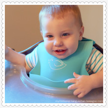 Waterproof Silicone Bib Easily Wipes Clean! Comfortable Soft Baby Bibs Keep Stains Off! Spend Less Time Cleaning after Meals wit