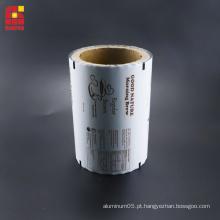 Filmes laminados em folha de alumínio