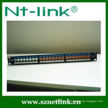 Panel de conexión 1U de 24 puertos sin carga con cubierta antipolvo