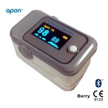 CE Approved Bluetooth 4.0 Fingertip Pulse Oximeter for iPhone and Android APP OLED for SpO2 Test Finger SpO2 Monitor Pulse Oximetry Medical Equipment