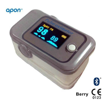 CE Bluetooth 4.0 Finger Pulse Oximeter for iPhone and Android APP OLED for SpO2 Test Finger SpO2 Monitor Pulse Oximetry