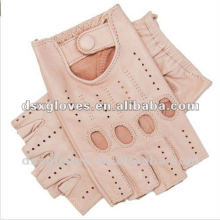 Girls leather fingerless gloves