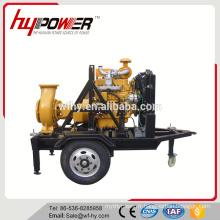 Pompe à eau à moteur diesel avec remorque