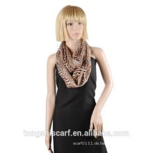 2016 Frühling / Sommer Lady klassische Zebra gedruckt Muster Polyester Voile Loop Schal runden Schal