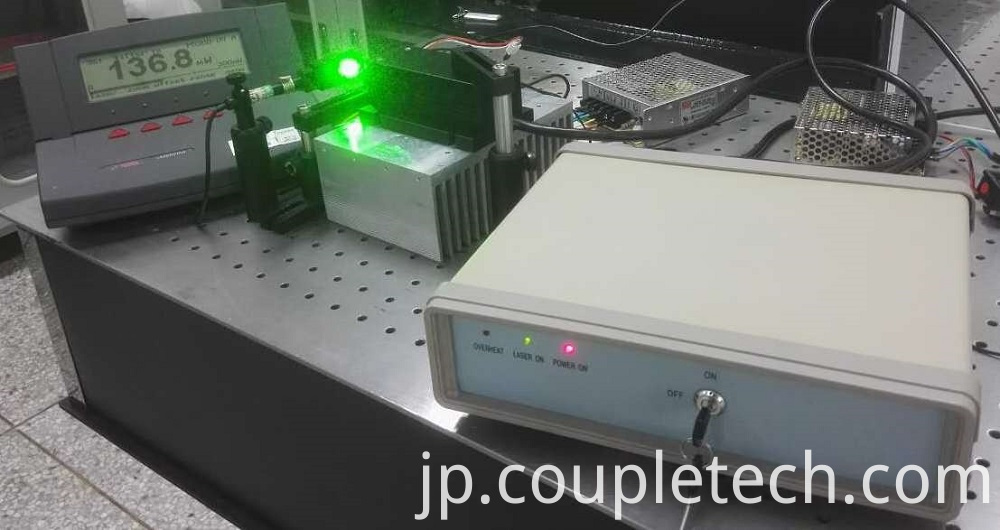 Output Power of 561nm Yellow Laser