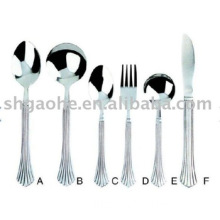 stainless steel fork and spoon set A
