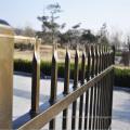 Clôture de jardin en fer noir imperméable à l'eau