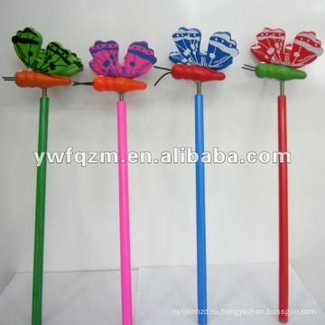 канцтовары карандаш бабочка с логосом для промотирования