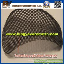 Malha de metal perfurada usada em tetos falsos e assim por diante