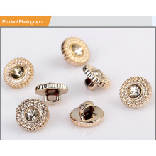 Abs Plastic Rhinestone Button BA60175
