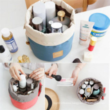 Unique Classic Design Waterproof Drawstring Cylindrical Multifunctional Travel Cosmetic Bags