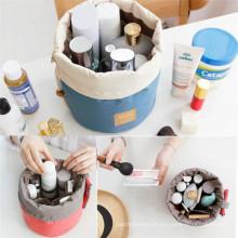 Único projeto clássico impermeável Drawstring Cilíndrica multifuncional viagem cosméticos sacos