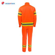 2018 safty nuevo diseño en 20471 cintas reflectoras traje de trabajo de seguridad