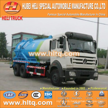 North-Benz 6x4 16000L vacuum sewage suction truck with vacuum pump WEICHAI diesel engine WP10.270E32 270hp