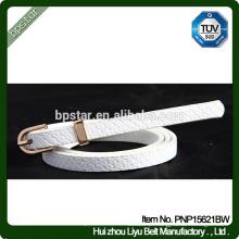 Branco Mulheres PU Cintos para Fêmea Jeans Cintos Straps Designer Marca