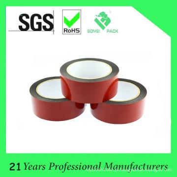 Fita de espuma de dupla face preta de filme vermelho para montagem