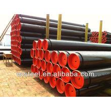 tubulação de aço carbono alinhada epoxy de alta qualidade / ASTM A106 / A53