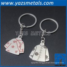 2015 custom manufacturer custom couple keychain for lovers