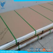 ASTM A582 plaqué et poli AISI304L Plaque en acier inoxydable
