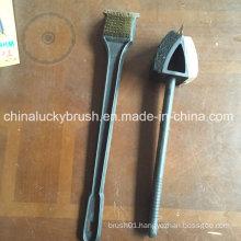 18 Inch Plastic Handle Brass Wire BBQ Brush (YY-531)