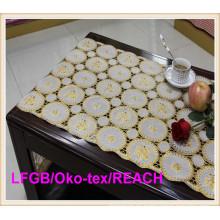 Vinilo PVC largo encaje plata y oro estera de tabla 50cm de ancho