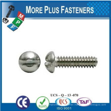Made in Taiwan Slotted Round Head Machine Screw