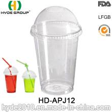 Taza desechable transparente del animal doméstico 12oz, taza disponible con la tapa