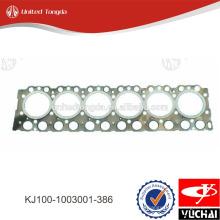 KJ100-1003001-386 yuchai junta da cabeça do cilindro para YC6K