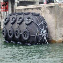 Deers pneumatic floating dock rubber marine fender with chian net
