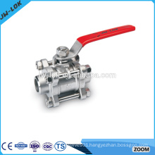 3 way lockable forged ball valve