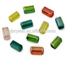 Contas de cristal chinês grânulos de retângulo grosso