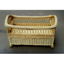 (BC-BA1009) High Quality Handmade Willow Baby Bed